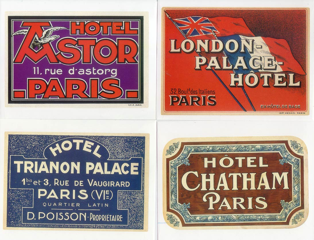 The gallery for --> Vintage Luggage Stickers